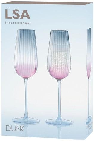 Set of 2 LSA International Dusk Champagne Flutes