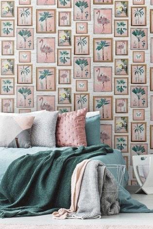 Fresco Tropical Frame Wallpaper by Art For The Home