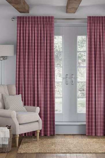Vintage Red Malverned Made To Measure Curtains
