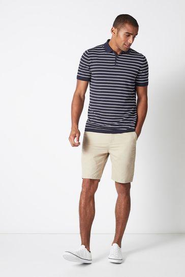Crew Clothing Cream Bermuda Shorts