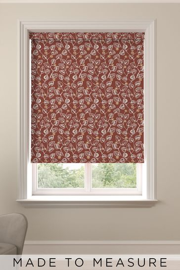 Leya Terracotta Red Made To Measure Roller Blind