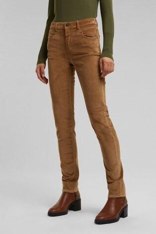 Esprit Camel Woven Skinny Pants