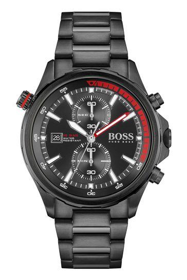 BOSS Globetrotter Black Bracelet Watch