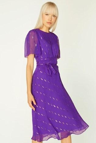 L.K.Bennett Purple Eve Fitted Dress
