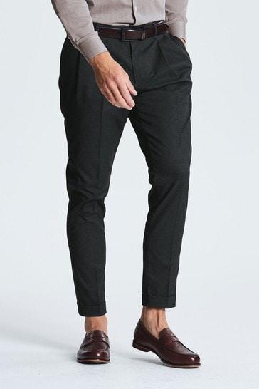 Navy Twin Pleat Trousers