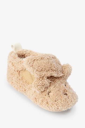 Toffee Bear Cosy Lined Pram Slipper Shoes (0-18mths)