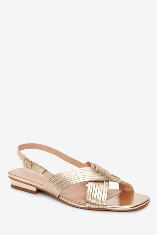 Gold Signature Slingback Sandals