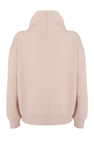 Mint Velvet Pink Funnel Neck Sweatshirt