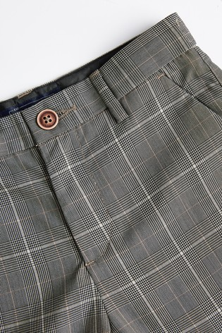 Grey Formal Check Trousers (3-16yrs)