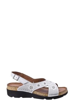 Riva White Serafina Wedge Sandals