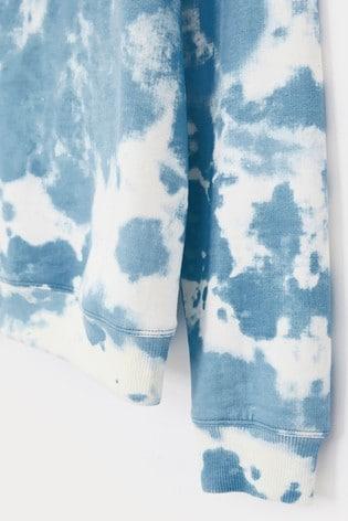 White Stuff Blue Denim Tie Dye Sweat Top