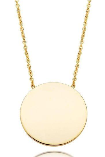 Beaverbrooks 9ct Gold Disc Necklace