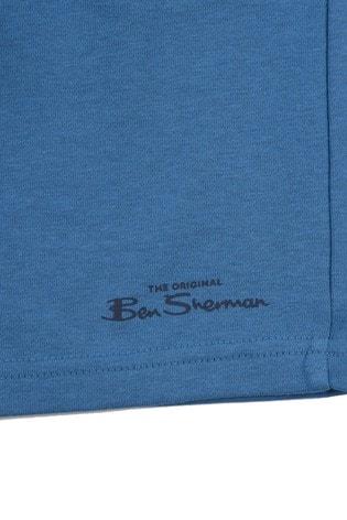 Ben Sherman® Blue Script Sweat Shorts