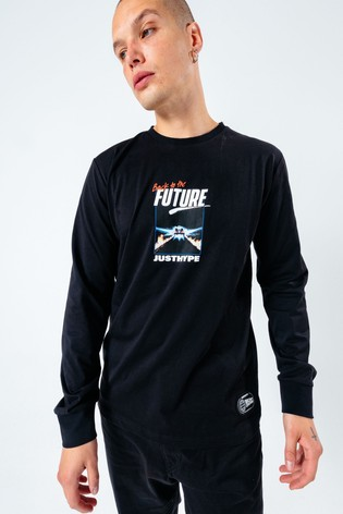 Hype. x Back To The Future Black Graphic Back Print T-Shirt