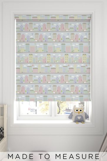 Town Pastel Blue Made To Measure Roller Blind