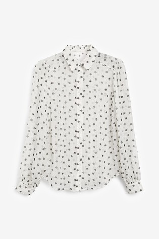 Ecru Spot Sparkle Shirt