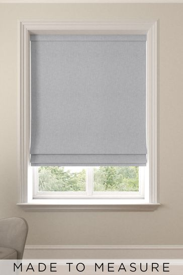Sayeh Silver Grey Made To Measure Roman Blind