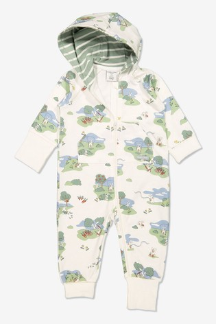Polarn O. Pyret Natural Organic Cotton Rabbit All-In-One