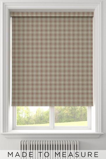 Malvern Earth Red Made To Measure Roller Blind