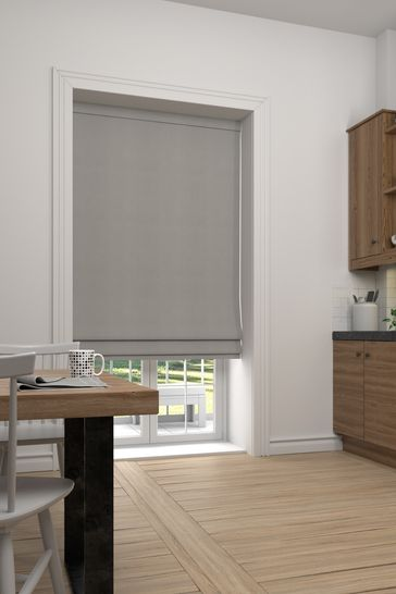 Imogen Truffle Natural Made To Measure Roman Blind
