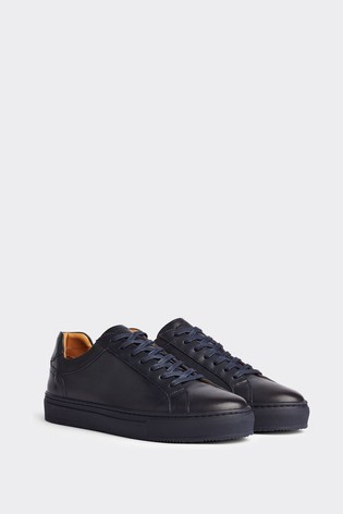 Tommy Hilfiger Blue Premium Leather Sneakers