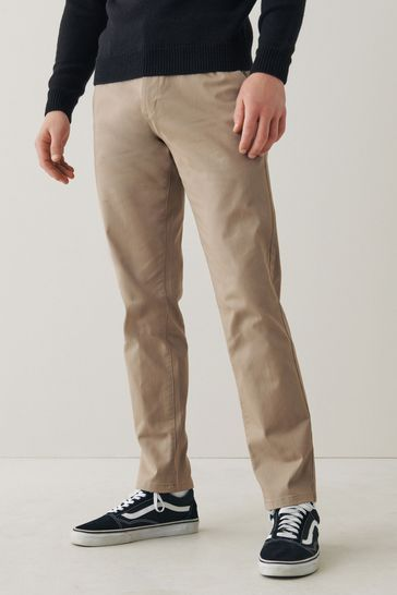 Stone Slim Fit Stretch Chino Trousers