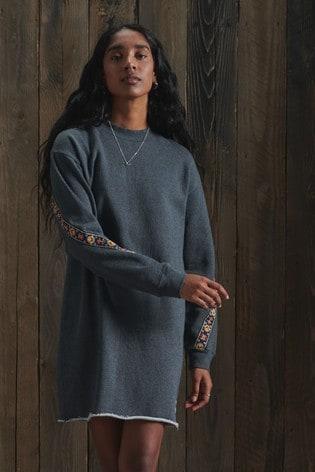 Superdry Crafted Folk Sweat Dress