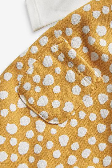Yellow Ochre Spot Dungaree And Bodysuit Set (0mths-2yrs)