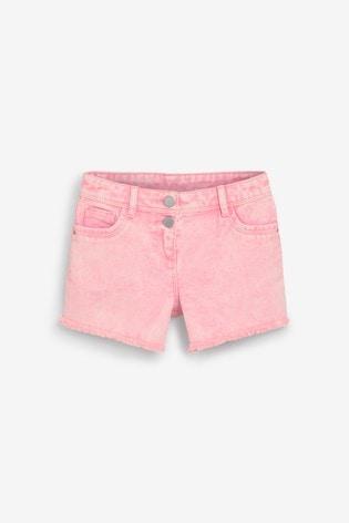 Pink Coloured Denim Shorts (3-16yrs)