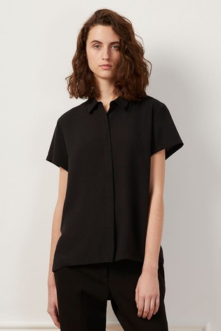 French Connection Black Classic Crepe Light Shirt