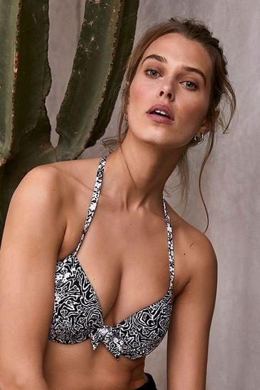 Mint Velvet Plunge Bikini Top