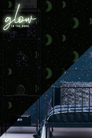 Art For The Home Blue Superfresco Planetarium Glow In The Dark Wallpaper
