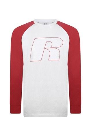 Russell Athletics Graphic Raglan Long Sleeve T-Shirt