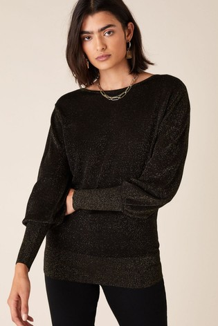 Monsoon Copper Sparkle Jumper With Sustainable Viscose