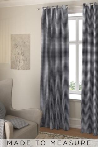 Melrose Slate Black Made To Measure Curtains