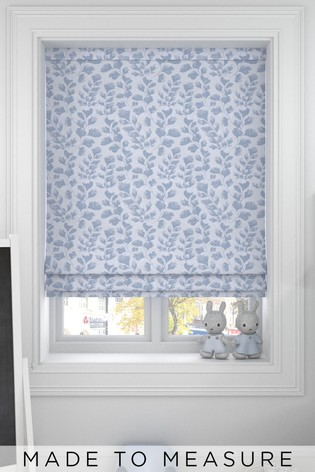 Blue Lucerne Made To Measure Roman Blind