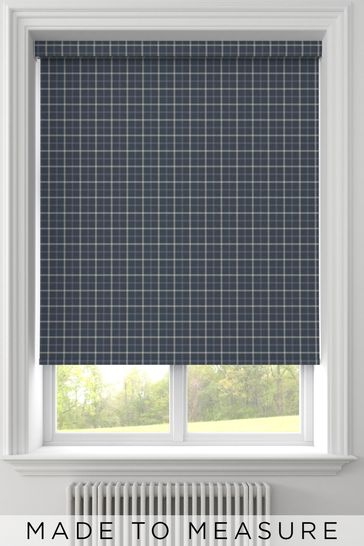 Malvern Navy Blue Made To Measure Roller Blind