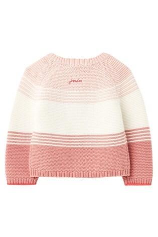 Joules Pink Haywood Stripe Cardigan