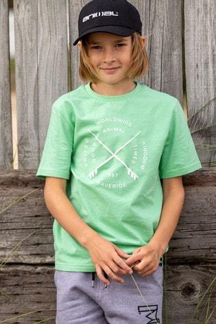Animal Green Waveride Graphic T-Shirt