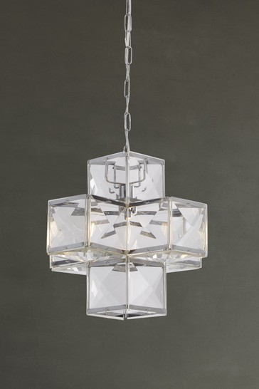 Aspen 1 Light Acrylic Pendant by Searchlight