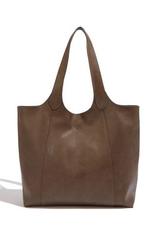 Oasis Brown Scoop Shopper Bag
