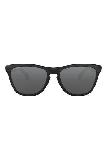 Oakley® Black Round Sunglasses