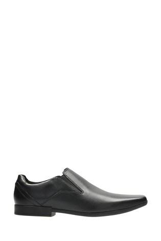 Clarks Black Leather Glement Slip Shoes