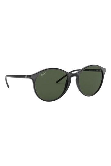 Ray-Ban® Black/Green Sunglasses