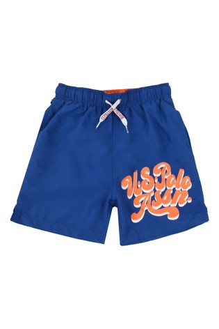 U.S. Polo Assn. Script Swim Shorts