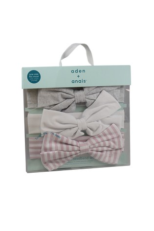 aden + anais Pink Stripe Headbands Three Pack
