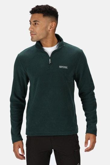 Regatta Green Thompson Half Zip Fleece