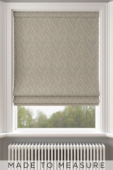 Pionna Pewter Grey Made To Measure Roman Blind