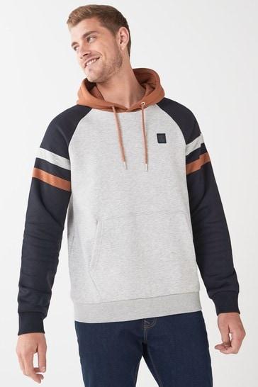 Navy/Grey Hoodie Colourblock Jersey