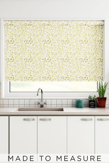 Sprig Zest Yellow Made To Measure Roller Blind